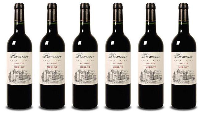 Promesse Merlot Rotwein 6 Flaschen Promesse Merlot Rotwein für 21,95€