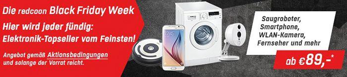 Redcoon Black Friday Week1 Redcoon Hot Deals – iRobot Roomba 621 für 259€, Samsung 32 Zoll TV für 222€ uvm.