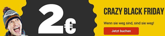 Knaller! Ryanair Flüge ab 2€ inkl. Gebühren und Steuern   nur heute!