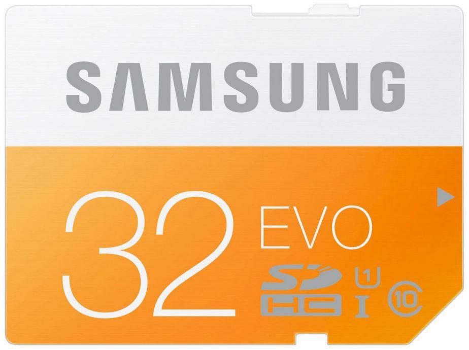 SAMSUNG EVO   32 GB SDHC Speicherkarte Class 10 für nur 7€