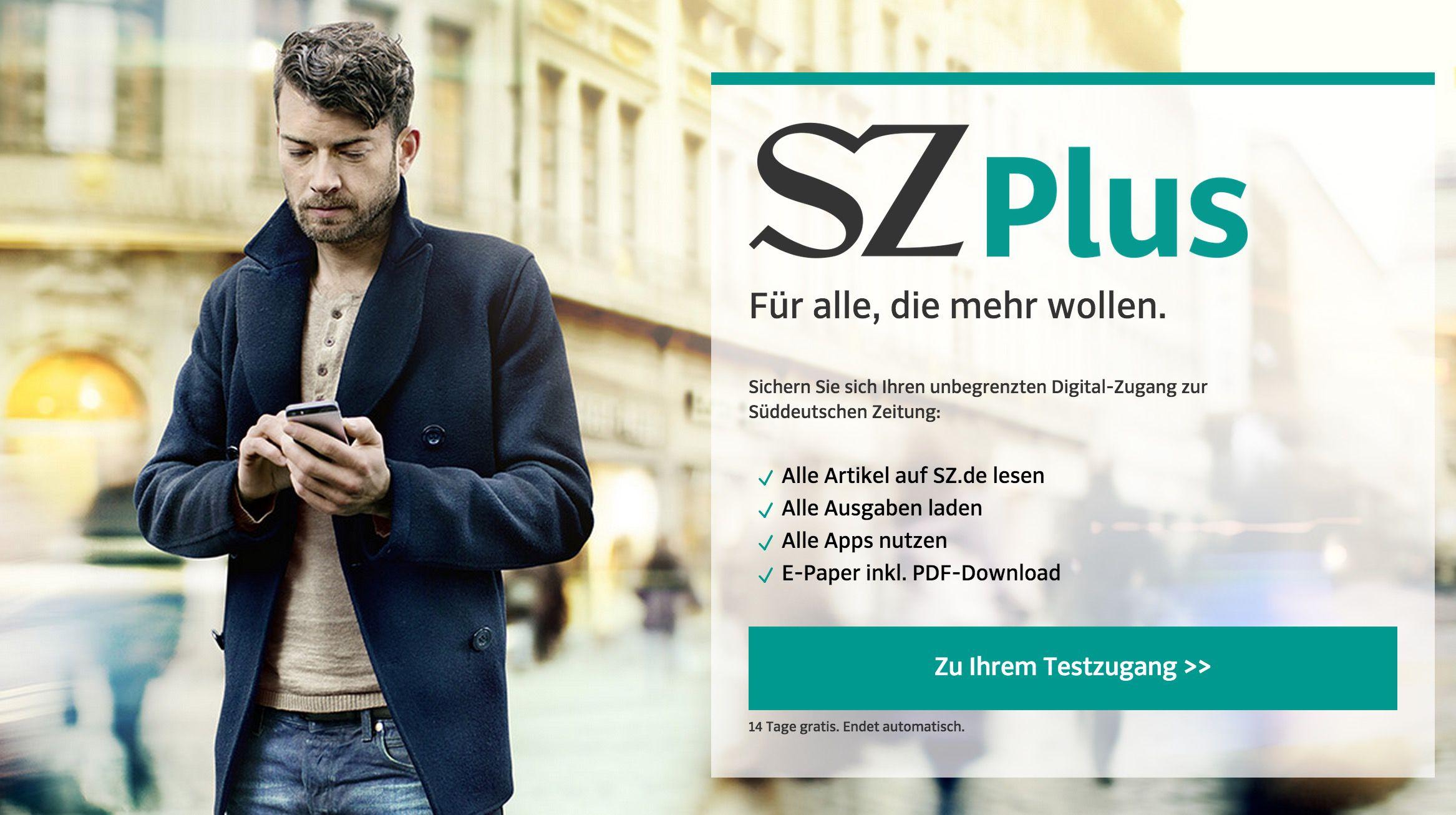 SZ plus 2 Wochen Süddeutsche Zeitung Plus gratis – keine Kündigung notwendig