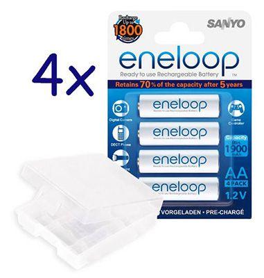 16 Stück Sanyo Eneloop 800mAh Akkus (neueste Version) für 21,95€