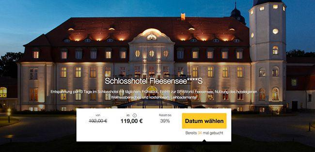 3 Tage im 4 Sterne Schlosshotel Fleesensee mit Frühstück und Spa ab 119€ p.P.