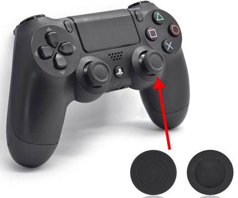 2 Silikon Aufsätze für Dualshock PS4 Controller für 2,98€