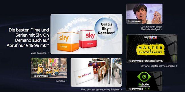 Sky mit 2 Paketen nach Wahl inkl. HD Sender für 29,99€   Hot!
