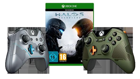 Preisfehler? Halo 5 (Xbox One) + Spartan Locke Controller für 64,99€ (statt 104€)