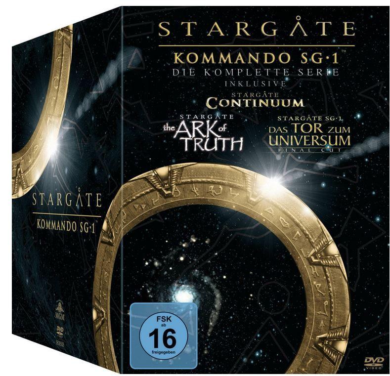 Stargate Kommando SG 1 inkl. Continuum und The Ark of Truth 61 DVDs für nur 43,97€