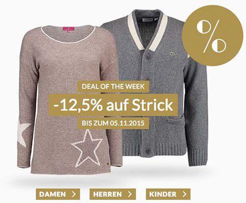 Strick Mode bei engelhorn 12,5% Rabatt auf Strick Mode bei engelhorn + 5€ Gutschein (Polo Ralph Lauren uvm.)