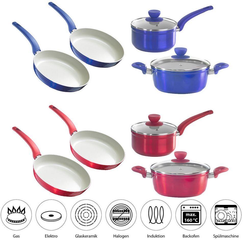 Stylen Cook   Set aus 2 Pfannen und 2 Töpfen & Deckel je Set 49,99€