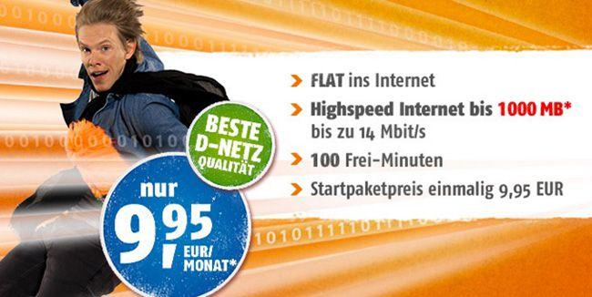 Telekom Tarif mit 100 Freiminuten und 1GB für 9,95€ monatlich