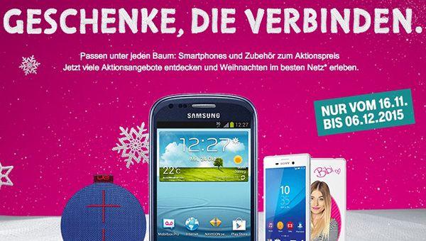 Telekom Xmas Special   z.B. Samsung Galaxy S3 mini für 88€ (statt 116€)