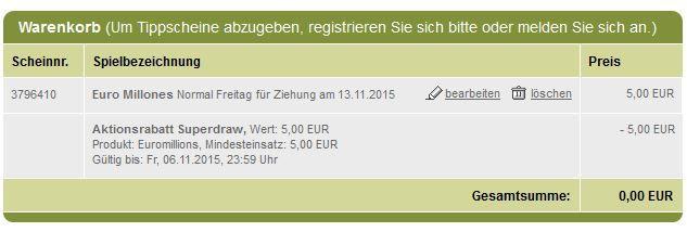 Gratis! 2 EuroMilliones Tipps für Neukunden bei Tipp24   aktueller Jackpot: 129.000.000€