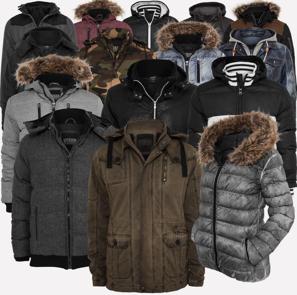 Urban Dreamz URBAN CLASSICS   Winter Jacken & Parkas für Damen & Herren + Mütze + Schal für 39,90€