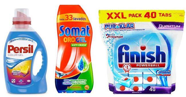 Waschmittel und Tabs Günstige Waschmittel und Tabs   z.B. 96 finish Calgonit Power Gel Kapseln für 19,99€