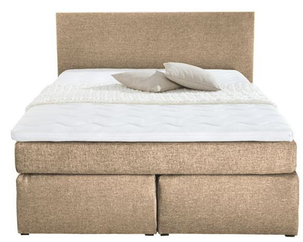 carryhome Boxsprinbett carryhome BOXSPRINGBETT in Textil Hellbraun für nur 299€