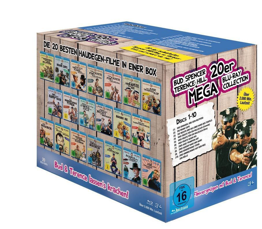 Bud Spencer & Terence Hill   Mega Blu ray Collection für 50,99€