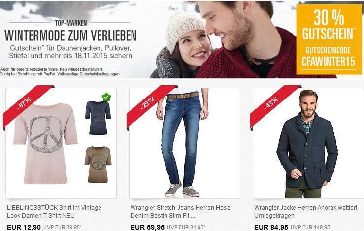 ebay 30 Prozent Gutschein Günstige Marken Kleidung dank 30% ebay Gutschein