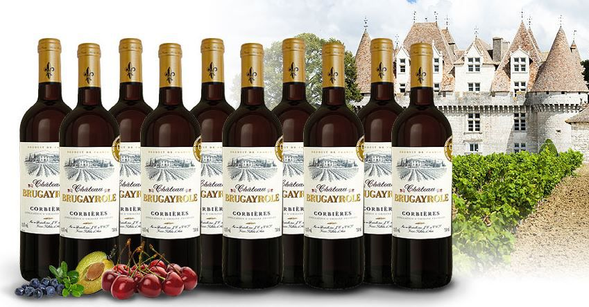 ebrosia Probierpaket 10 Flaschen Château Brugayrole AOP Corbières 2014 für 39,90€
