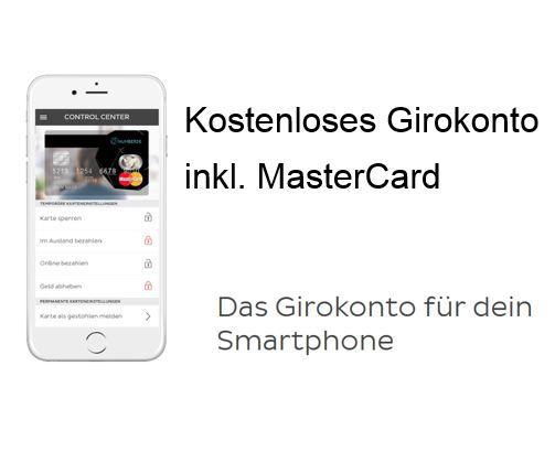 Number26   kostenloses Prepaid Giro Konto mit kostenloser Mastercard