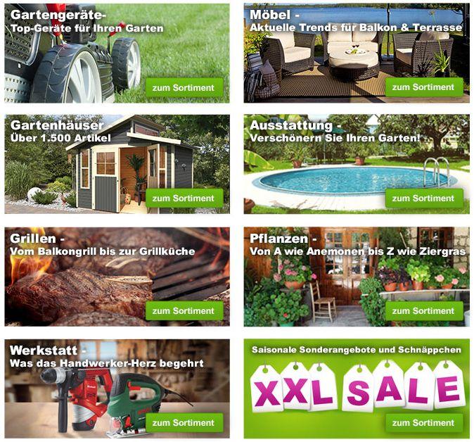 Garten XXL mit 10% oder 10€ Rabatt auf alles   z.B. Hailo ProfiLOT Alu Kombileiter statt 190€ für 152,96€