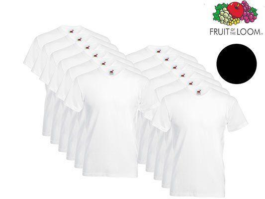 12 Fruit of the Loom Valueweight T Shirts in schwarz oder weiß für 30,90€