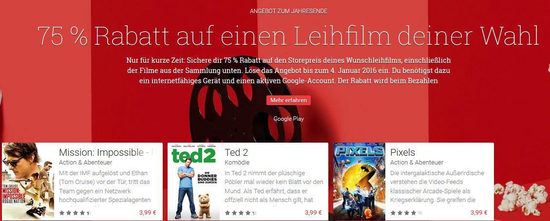 75 Rabatt auf Filme Tipp! Leih & Kauf Filme und Serien günstig