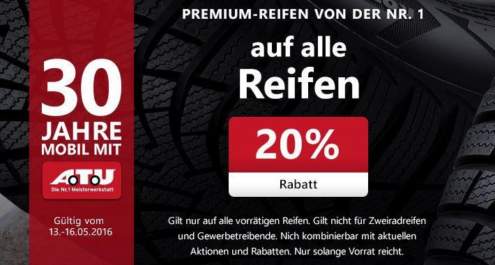 A.T.U 20% auf alle Reifen & Kompletträder – Nur online bei A.T.U
