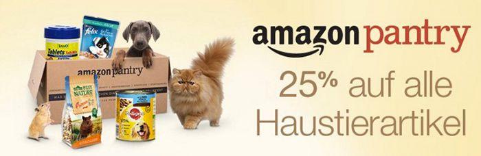 Amazon Pantry mit 25% Rabatt auf Haustierartikel