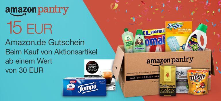 Amazon pantry Amazon Pantry für Primer ab 30€ MBW gibt es einen 15€ Amazon Gutschein