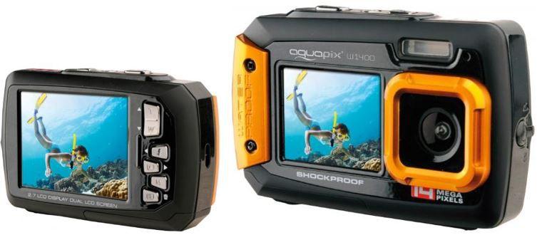 Aquapix W1400   Active Unterwasser Digitalkamera für 45,95€