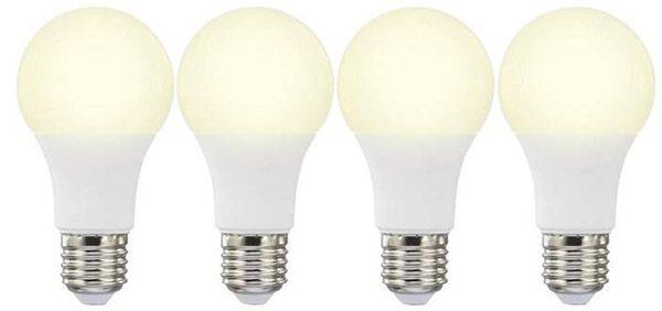 Basetech LED1 Basetech: 4 LED (einfarbig) E27 mit 10W (60W) für 9,99€