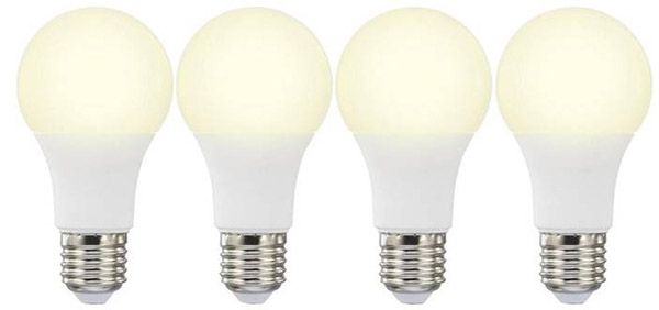 Basetech: 4 LED (einfarbig) E27 mit 10W (60W) für 9,99€