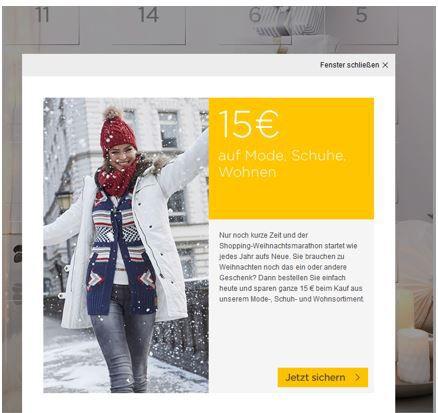 Baur Hammer! 15€ BAUR.de Gutschein auf:  Mode, Schuhe und Wohnen   ohne Mindestbestellwert   nur bis Mitternacht