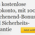 Kostenloses Girokonto + 100€ Guthaben
