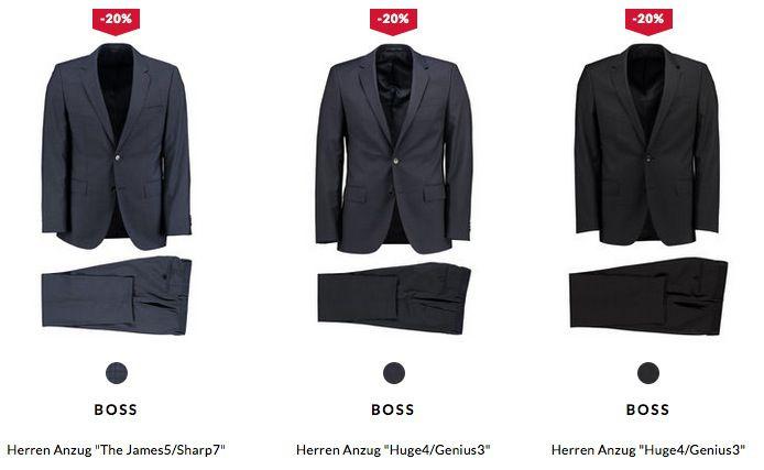 BOSS Anzüge auf 279€ reduziert   Paar sind noch da!