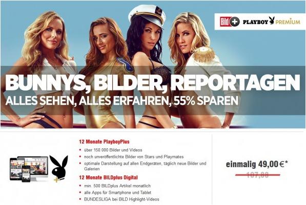 12 Monate BILDplus Digital + Bundesliga + PlayboyPlus für 49€ (statt 97€)