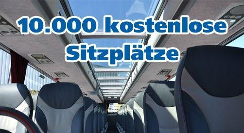 Gratis ! 10.000 kostenlose Sitzplätze für DeinBus   Quer durch Deutschland
