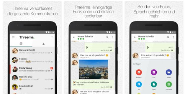 Threema Messenger (iOS, Android, Windows Mobile) heute ab 1,09€