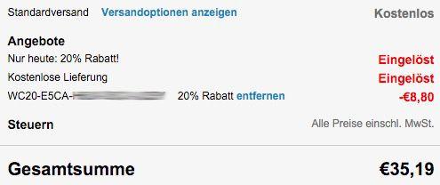 Nur heute! 20% Rabatt bei Crocs + 20% Gutschein + VSK frei