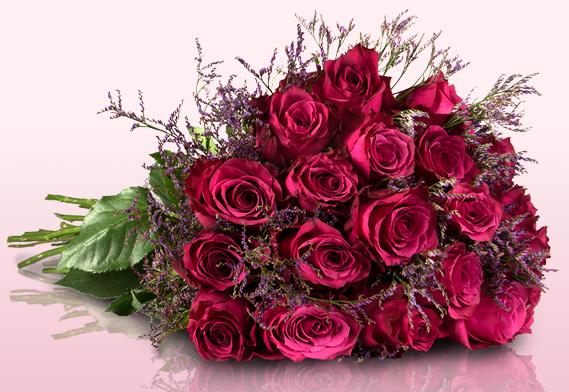 18 Rosen als Strauß für 18€ inkl. Versand   Tipp!