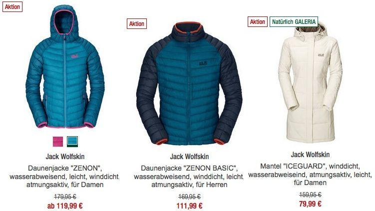 20% Extra Rabatt auf Jack Wolfskin bei Galeria kaufhof