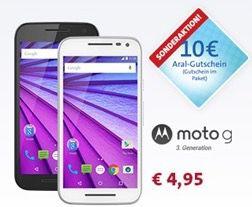 Vodafone Allnet Starter (200 Min., 100 SMS, 400MB) + Moto G 3. Gen für 9,57€ mtl.