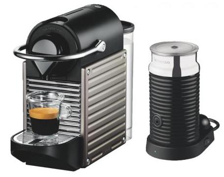 Krups Nespresso Pixie XN301T + Aeroccino3 Milchaufschäumer für 99€