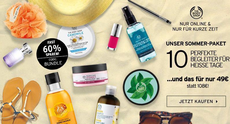 10 Produkte für 49€ bei The Body Shop statt 108€