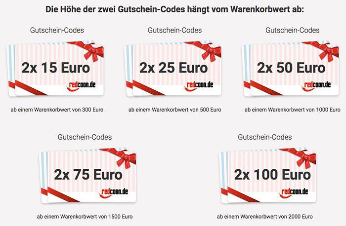 Bis zu 200€ Bonus Gutschein für Einkäufe ab 300€ bei Redcoon