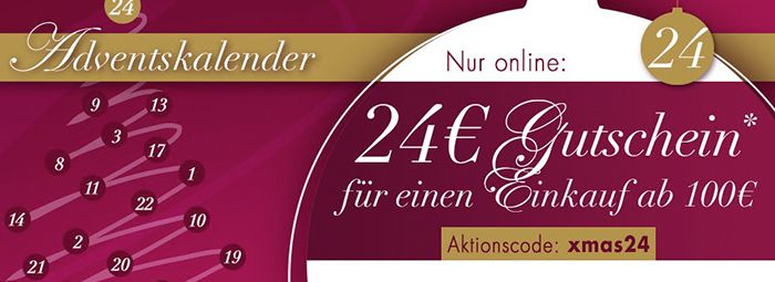 24€ Karstadt Gutschein mit 100€ MBW + VSK frei ab 50€