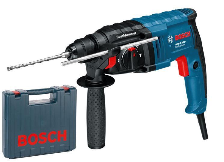 Bosch GBH 2 20 D   Bohrhammer mit Meißelfunktion + Koffer für 99,90€