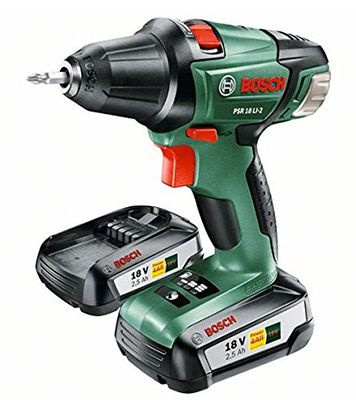 Bosch PSR 18 LI 2 Bosch PSR 18 LI 2 Akku Bohrschrauber + 2. Akku für 144,99€ (statt 183€)