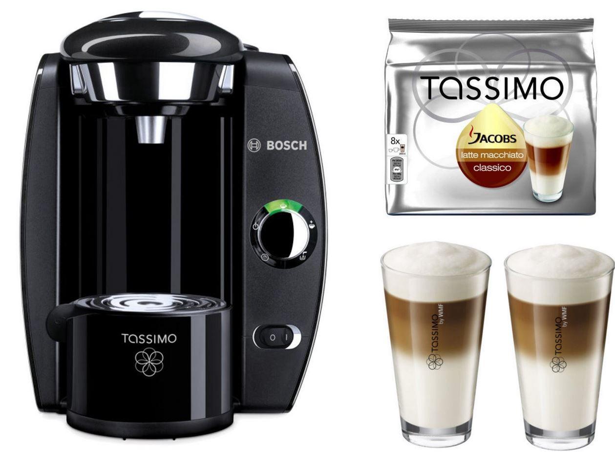 TASSIMO FIDELIA + 20€ Gutschein +TDiscs + WMF Gläser für 29,99€