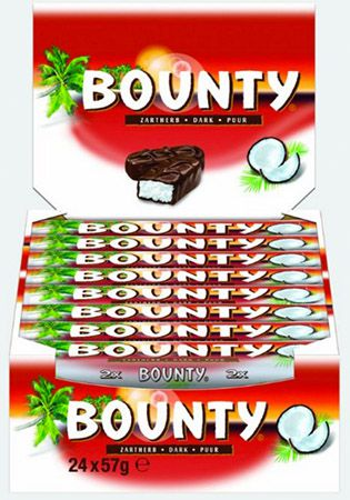 Bounty Zartherb 24 Riegel für 5,52€ (statt 15€)   Plus Produkt!